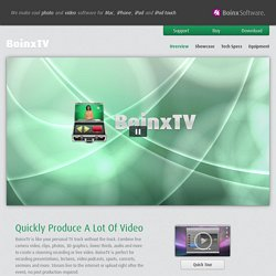 Overview - BoinxTV - Boinx Software