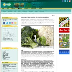FRESH PLAZA 10/06/16 OVERVIEW GLOBAL BROCCOLI AND CAULIFLOWER MARKET