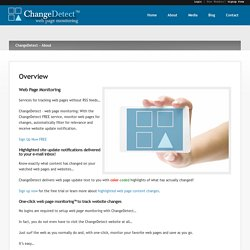 Overview ‹ ChangeDetect