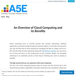 An Overview of Cloud Computing and its Benefits