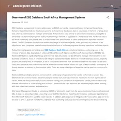 Overview of DB2 Database South Africa Management Systems