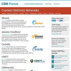 Overview of Content Delivery Networks - CDN Planet