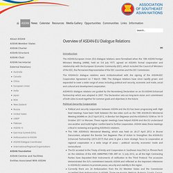 Overview of ASEAN-EU Dialogue Relations