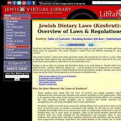 Overview of Jewish Dietary Laws & Regulations