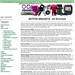 Bottom Bracket Overview - Bicycle Parts at discount prices / the Buyer's Guide / Bicycle Parts at their finest! / Professional Bicycle Source / Bike Pro