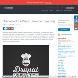 Overview of the Drupal Developer Days 2015