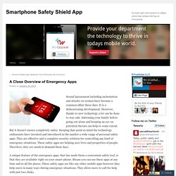 A Close Overview of Emergency Apps