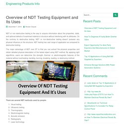 Overview of NDT Testing Equipment and Its Uses