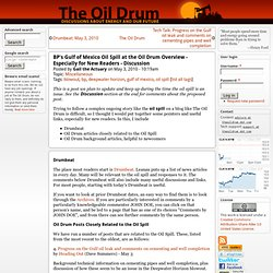 BP's Gulf of Mexico Oil Spill at the Oil Drum Overview - Especially for New Readers - Discussion