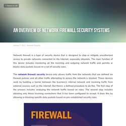 An Overview of Network Firewall Security Systems - Network Security