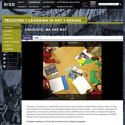 Teaching + Learning in Art + Design