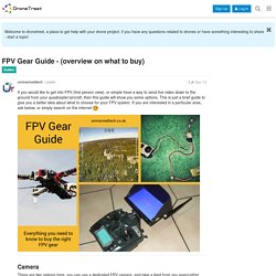 FPV Gear Guide - (overview on what to buy) - Guides - DroneTrest