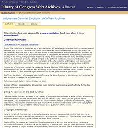 Overview: Indonesian General Elections 2009 Web Archive (Library of Congress Web Archives)