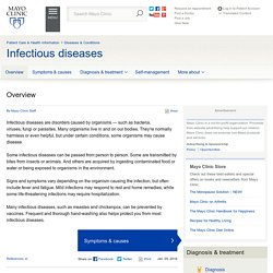 Overview - Infectious diseases
