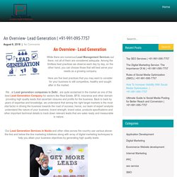An Overview-Lead Generation