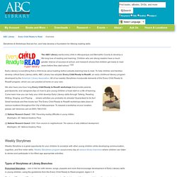 Overview - Every Child Ready to Read - LibGuides at ABC Library