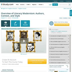 Overview of Literary Modernism: Authors, Context, and Style