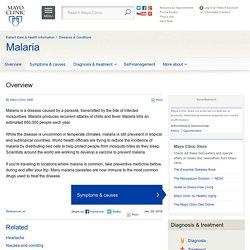 Overview - Malaria