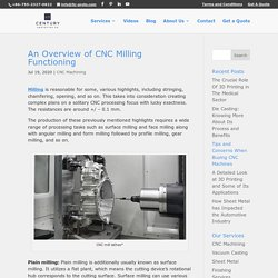 An Overview of CNC Milling Functioning