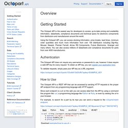 Overview - Octopart API