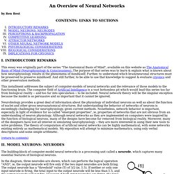 OVERVIEW OF NEURAL NETWORKS