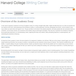 Harvard Writing Center