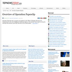 Overview of Operation Paperclip