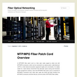 MTP/MPO Fiber Patch Cord Overview