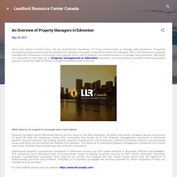 An Overview of Property Managers in Edmonton