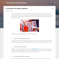 An overview of Fire safety compliance