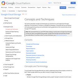 API Overview - Google Cloud Storage - Google Code