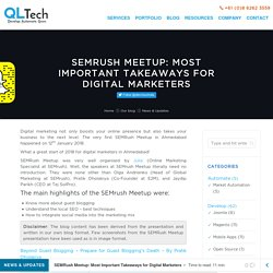 SEMRush Meetup: Overview and Takeaways for Digital Marketers