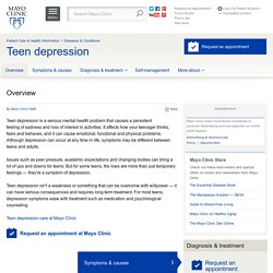 Overview - Teen depression