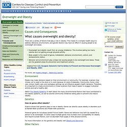 Obesity and Overweight for Professionals: Adult: Causes - DNPAO - CDC