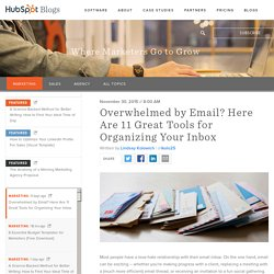 Overwhelmed by Email? Here Are 11 Great Tools for Organizing Your Inbox