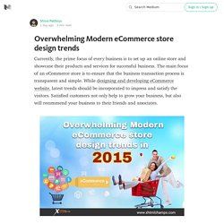 Overwhelming Modern eCommerce store design trends