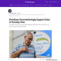 Floridians Overwhelmingly Support Solar In Tuesday Vote – ThinkProgress