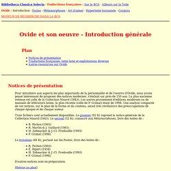 Ovide - Introduction générale