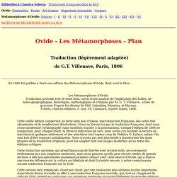 OVIDE - Métamorphoses - Plan
