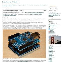 Ovidiu Predescu's Weblog: Arduino Tiny Web Server - part 3