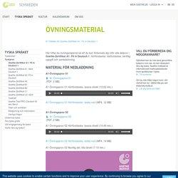 Övningsmaterial - Goethe-Institut Schweden