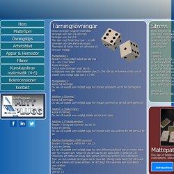 Övningstips och spel för matematik.