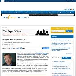 OWASP Top Ten for 2013