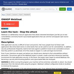 WebGoat - Learn the hack - Stop the attack