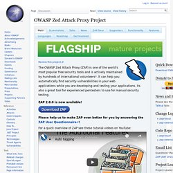 OWASP Zed Attack Proxy Project