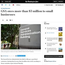 Exclusive: GSA failed to pay thousands of small government contractors since 2008