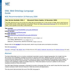 OWL Web Ontology Language Guide