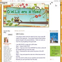 OWLS are a hoot: QR Codes