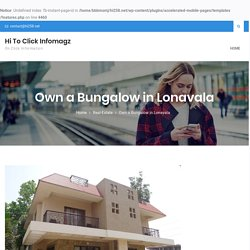 Own a Bungalow in Lonavala