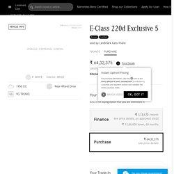 Buy Online Mercedes-Benz E-Class 220d Exclusive 5